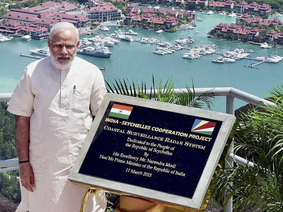 India - Seychelles cooperation project, CSRS, Coastal Surveillance Radar System, Seychelles, Prime Minister of India, Narendra Mod, President of Seychelles, James Michel