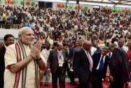 Prime Minister Narendra Modi during a civic reception