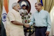 Prime Minister Narendra Modi with President of Seychelles James Alexis Michel