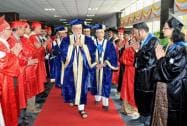 Prime Minister Narendra Modi arrives at the 42nd Convocation of the All India Institute of Medical Sciences