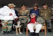 Prime Minister Narendra Modi  during his visit to Siachen on the occasion of Diwali