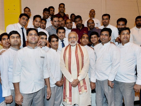 Narendra Modi, Modi UAE, UAE, PM Modi, PM Modi UAE, UAE Modi, Narendra Modi UAE, UAE Narendra Modi, Modi news, Modi UAE visit pictures, UAE news, India news, ICAD Residential Labour Camp Housing