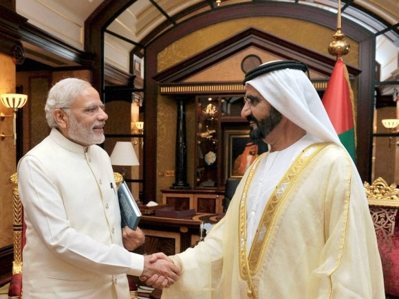 Narendra Modi, Prime Minister of UAE, Mohammed bin Rashid Al Maktoum, Modi UAE, UAE, PM Modi, PM Modi UAE, UAE Modi, Narendra Modi UAE, UAE Narendra Modi, Modi news, Modi UAE visit pictures, UAE news, India news