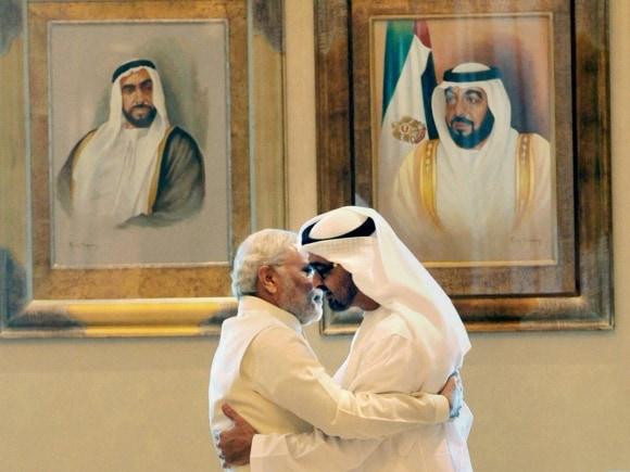 Narendra Modi, Crown Prince of Abu Dhabi, Sheikh Mohammed bin Zayed Al Nahyan, Modi UAE, UAE, PM Modi, PM Modi UAE, UAE Modi, Narendra Modi UAE, UAE Narendra Modi, Modi news, Modi UAE visit pictures, UAE news, India news
