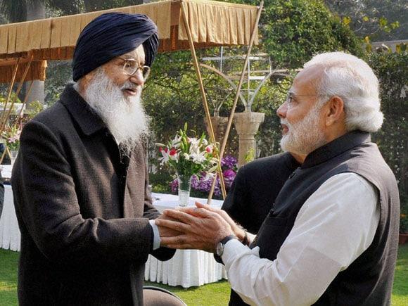 Prime Minister of india, Narendra Modi, NITI Aayog,  Punjab CM,  Parkash Singh Badal