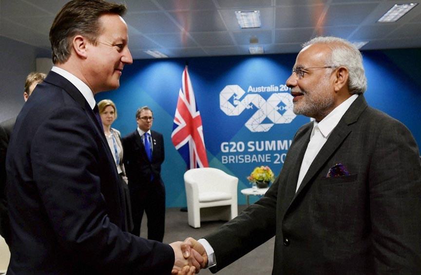 Prime Minister of India, Narendra Modi, PM, UK Prime Minister, David Cameron, Brisbane, Australia
