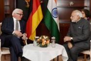 Prime Minister Narendra Modi in a meeting with German Foreign Minister Frank Walter Steinmeier