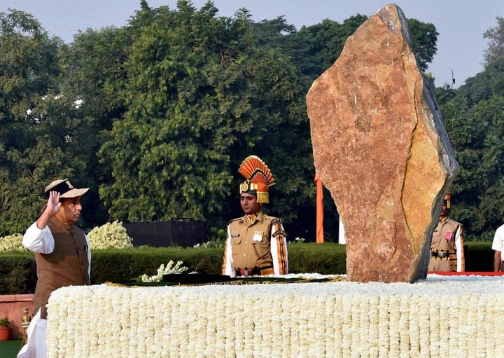 Union Home Minister, Rajnath Singh, arrives, lay,wreath, Police Memorial, occasion, Police Commemoration Day