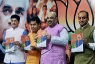 BJP President Amit Shah with Power Minister Piyush Goyal