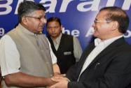 Ravi Shankar Prasad with Chief Minister of Arunachal Pradesh Nabam Tuki