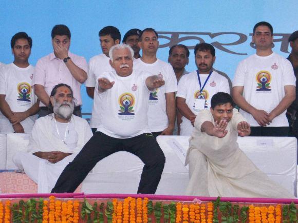 Haryana CM, ML Khattar, Yoga, World Yoga Day, International Yoga Day