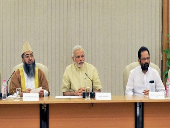 Prime Minister of India, Narendra Modi, Muslim community, Mukhtar Abbas Naqvi, National Security Adviser, Ajit Doval, Imam Umer Ahmed Ilyasi