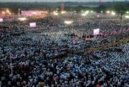 Crowed at the Telangana Rashtra Samithi public