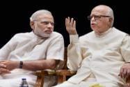 Prime Minister Narendra Modi with veteran BJP leader LK Advani