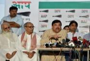 Sanjay Singh, Kumar Vishwas and Ashutosh