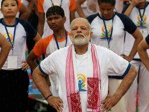 Narendra Modi performs yoga
