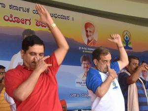 CH Birender Singh, Union minister and Prahlad Joshi, BJP MP in Hubli