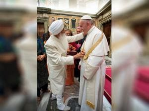 Pope Francis meets with representatives of different religions