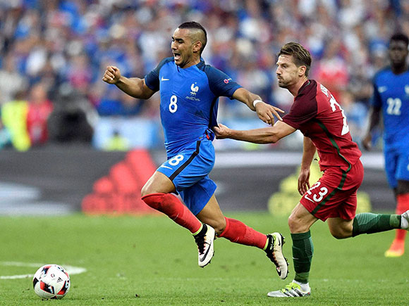 Dimitri Payet, Adrien Silva, Euro 2016 final, portugal vs france, portugal vs france final