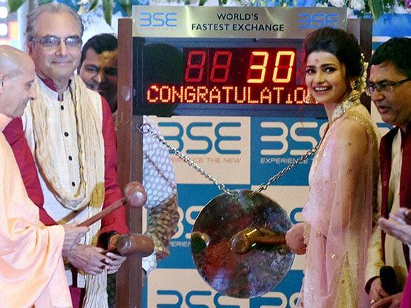 BSE, Prachi Desai, Muhurat, Diwali