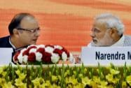 Prime Minister Narendra Modi with Union Minister for Finance Arun Jaitley