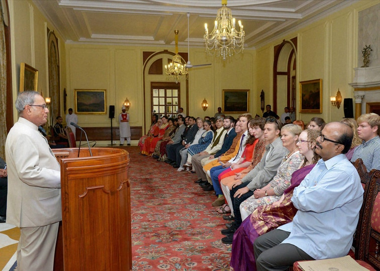 President of India, Pranab Mukherjee, addresses, students, Kings College London, University of Edinburg, Scotland, Rashtrapati Bhavan, New Delhi