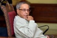 President of India Pranab Mukherjee addresses students from Kings College London
