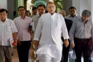 Jaitley arrives for a pre-Budget meet
