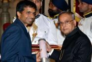 Pullela Gopichand receives Padma Bhushan award