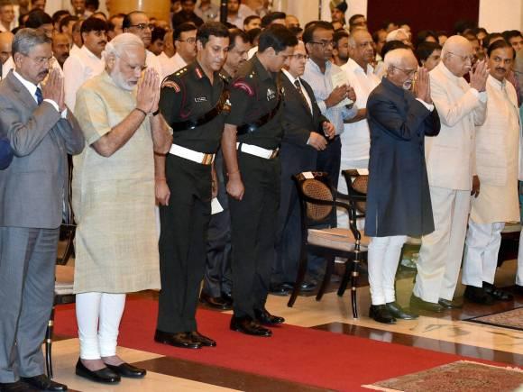 Hamid Ansari, Narendra Modi, Tourism Minister, Mahesh Sharma, ISRO Chairman, Kiran Kumar, ISRO, Gandhi Peace Prize, Indian Space Research Organisation