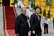 President Pranab Mukherjee with his Vietnamese counterpart Truong Tan Sang