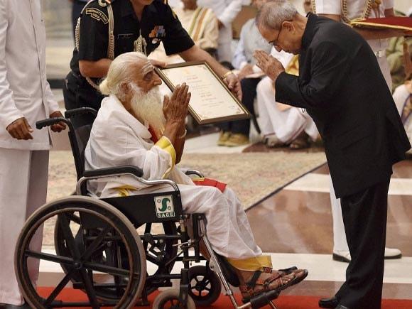 Sambanda Sivacharya, President of India, Pranab Mukherjee, Presidential Award, Rashtrapati Bhavan