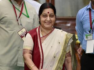 External Affairs Minister Sushma Swaraj casts her vote in the Presidential Election.jpg