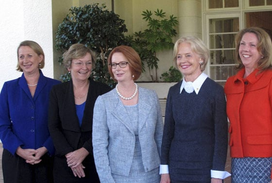 Prime Minister Julia Gillard at Government House