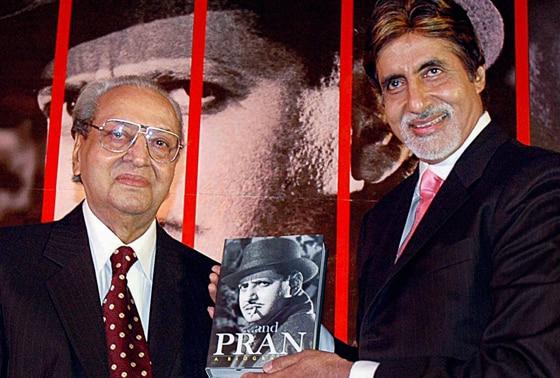 Veteran actor Pran with actor Amitabh Bachchan,  Pran Pran will be bestowed with the biggest film honour Dadasaheb Phalke Award. File Photo