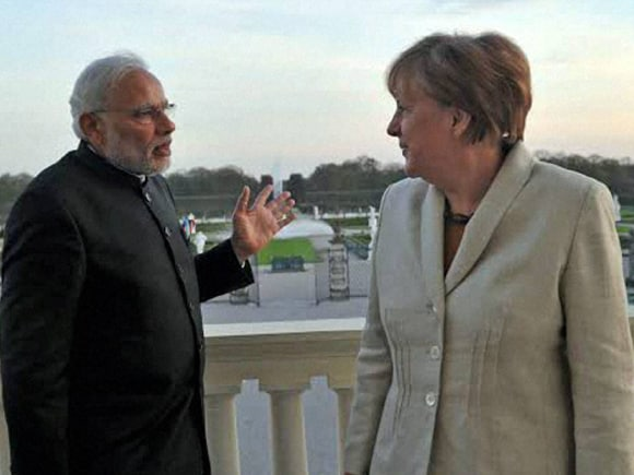 Prime Minister of India, Narendra Mod, Lord Mayor, German Chancellor, Angela Merkel