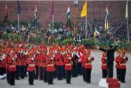 Prime Minister Narendra Modi at the Beating Retreat ceremony at in New Delhi