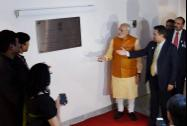 Prime Minister Narendra Modi inaugurating the new building of the Indian Embassy in Brasilia