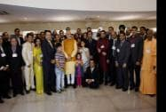 Prime Minister,Narendra Modi poses for a group photograph