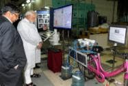 Prime Minister Narendra Modi during a visit to the Bhabha Atomic Research Centre (BARC) in Mumbai