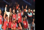 Bollywood actor Abhishek Bachchan's team Jaipur Pink Panthers win against Mumbai