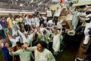 Congress workers protest against hike in railway fares