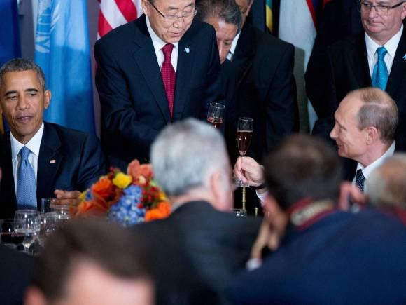 US President, Barack Obama, Russia President, Vladimir Putin, United Nations Secretary General, Ban Ki-moon, 70th session of the United Nations General Assembly, U N headquarters, New York