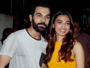 Bollywood actors Radhika Apte and Rajkumar Rao pose together at the screening of film Phobia in Mumbai