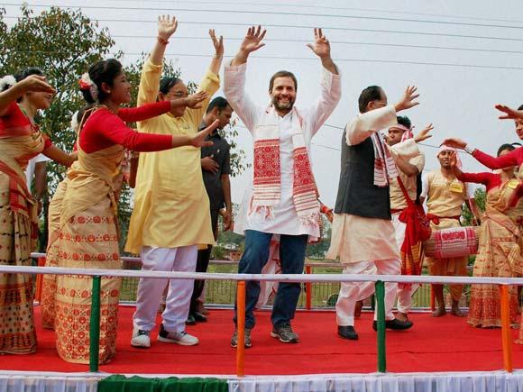Rahul Gandhi, Congress, Assam Election, Narendra Modi, Padyatra Assam, Sivasagar, Assam, Business Standard