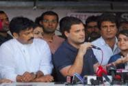 Rahul Gandhi meeting agitating students of the FTII