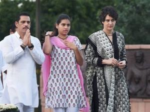 Priyanka Vadra with Robert Vadra and daughter Miraya Vadra