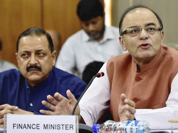 Home Minister of India, Rajnath Singh, Finance Minister of India, Arun Jaitley, MoS, PMO, Jitendra Singh, Jammu and Kashmir Finance Minister, Haseeb Drabu, New Delhi, Press Conference