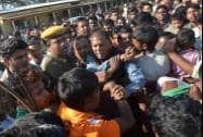 Angry protesters attack MLA of Rangapara at a relief camp