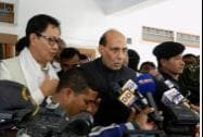 Union Home Minister Rajnath Singh addresses media